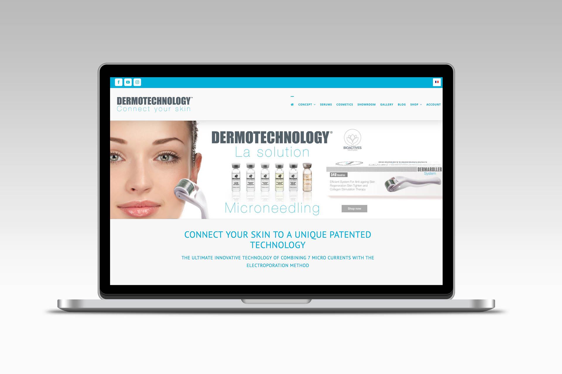 Dermotechnology création visuelle site web