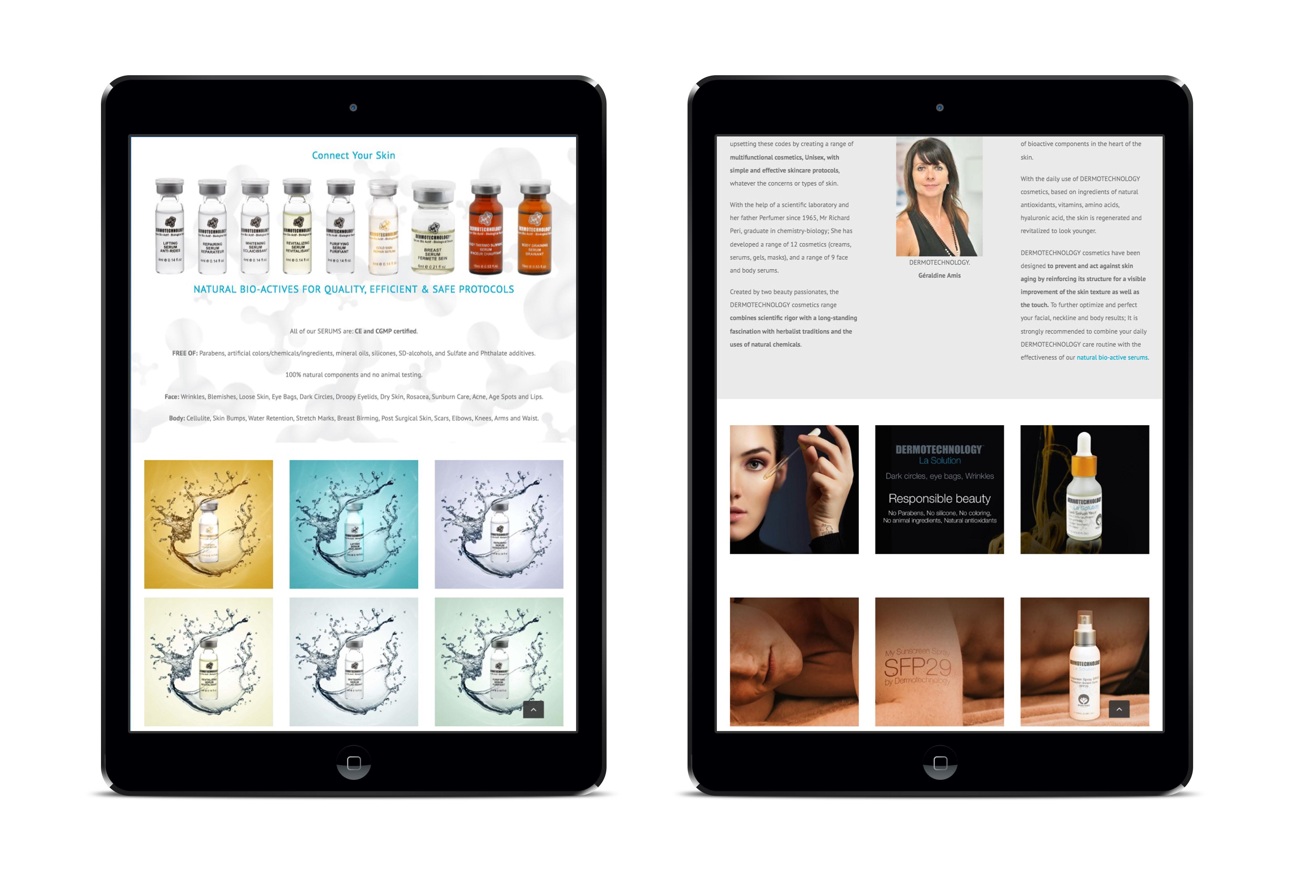 Dermotechnology webdesign graphisme mise en page web identité graphique direction artistique
