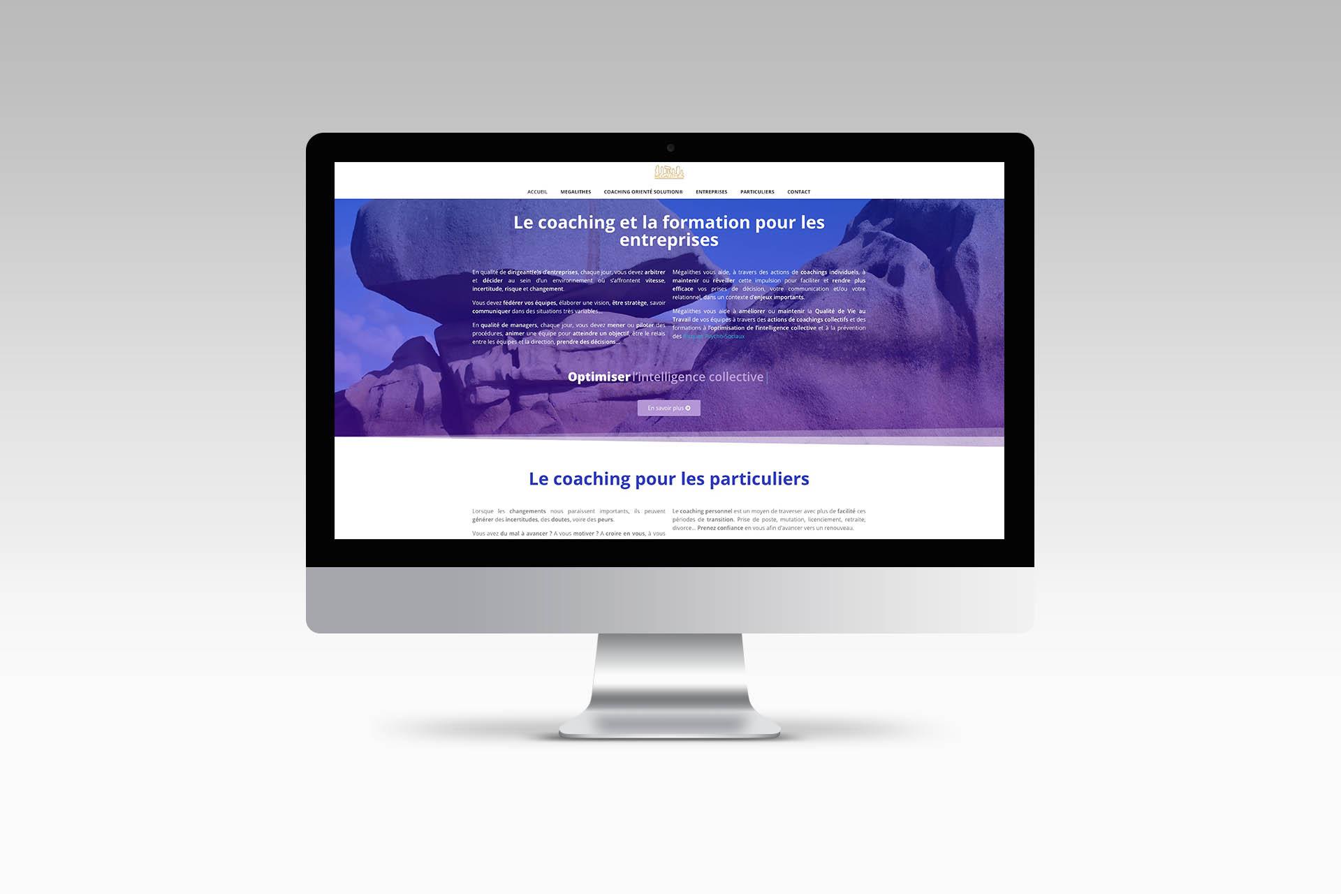 Megalithescp webdesign graphisme mise en page web identité graphique direction artistique