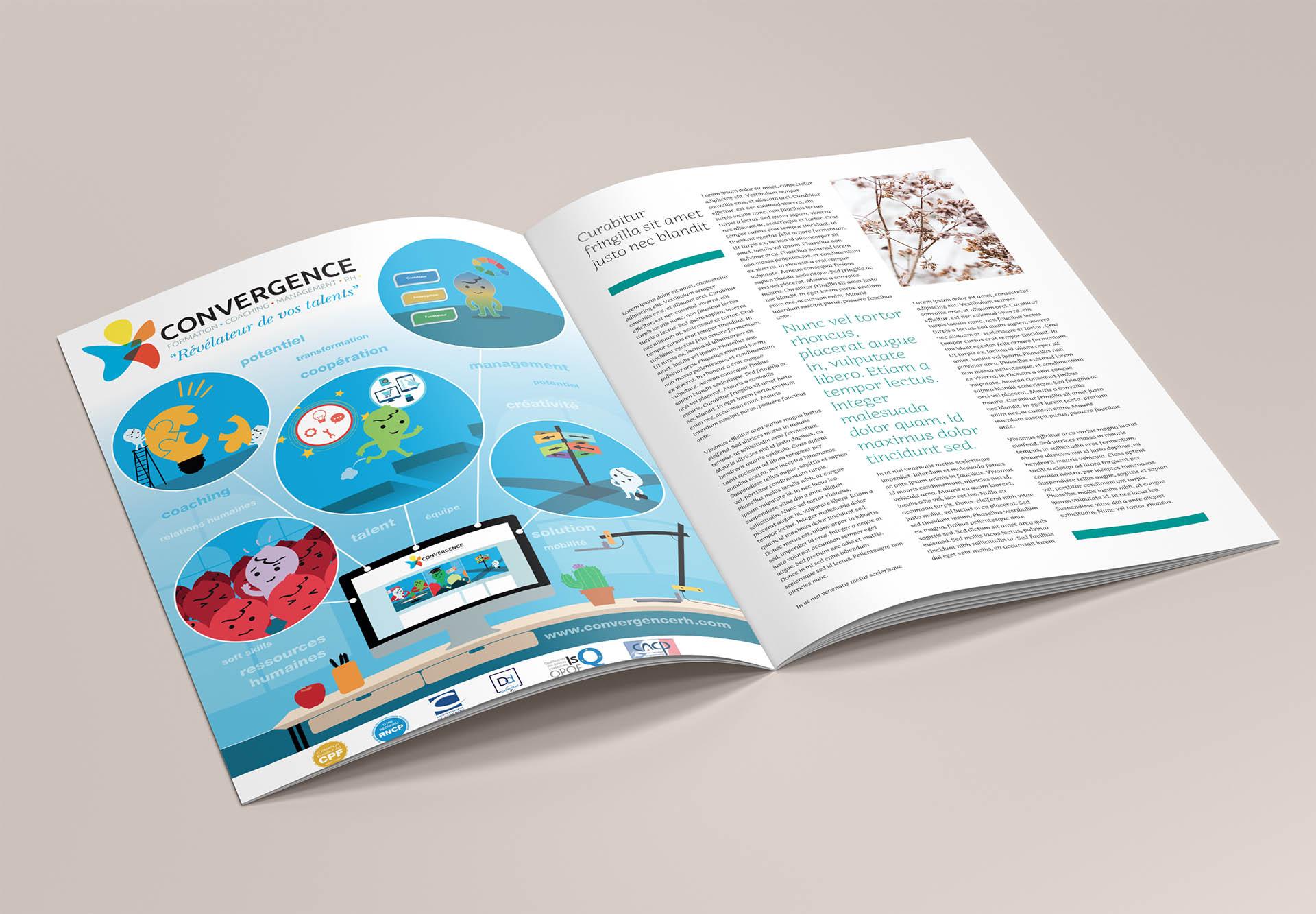 graphisme maquette publicité communication brochure