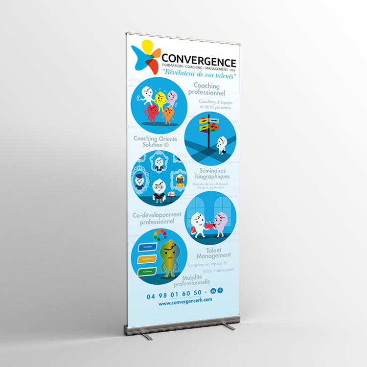 graphisme maquette roll-up communication