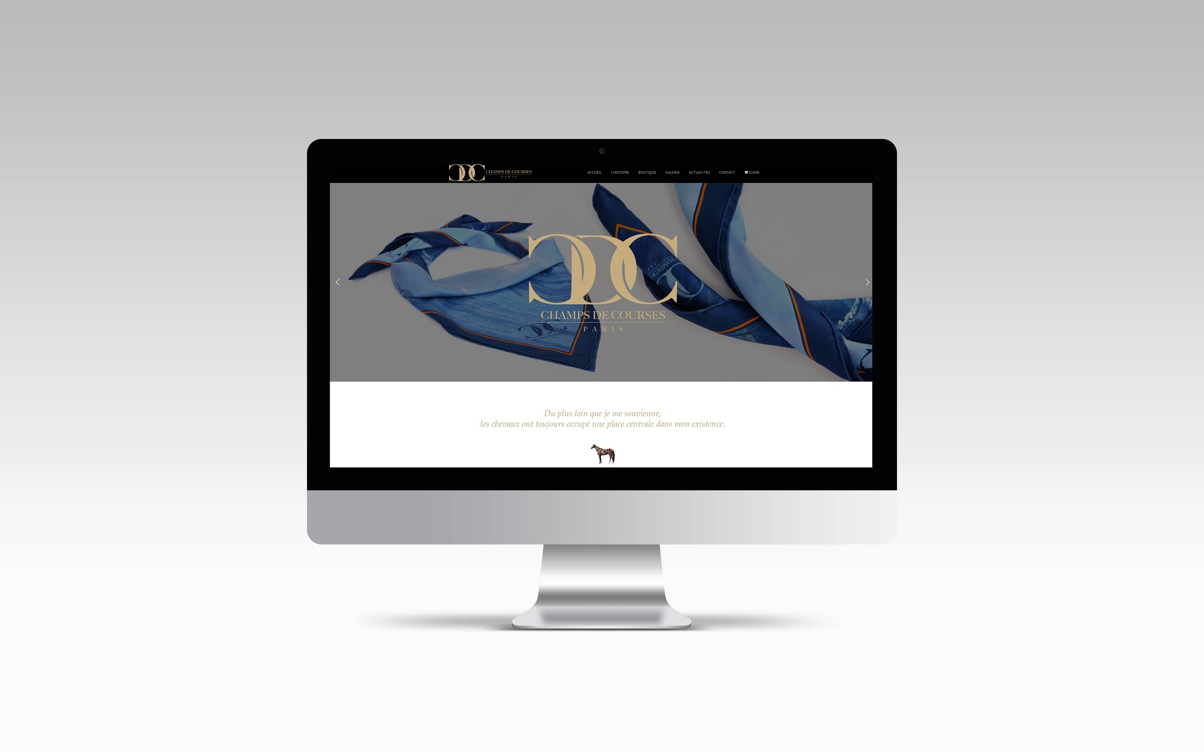 graphisme mise en page web identité graphique direction artistique wordpress Champs de courses