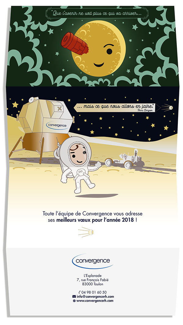 illustration conception graphique flat design carte de voeux