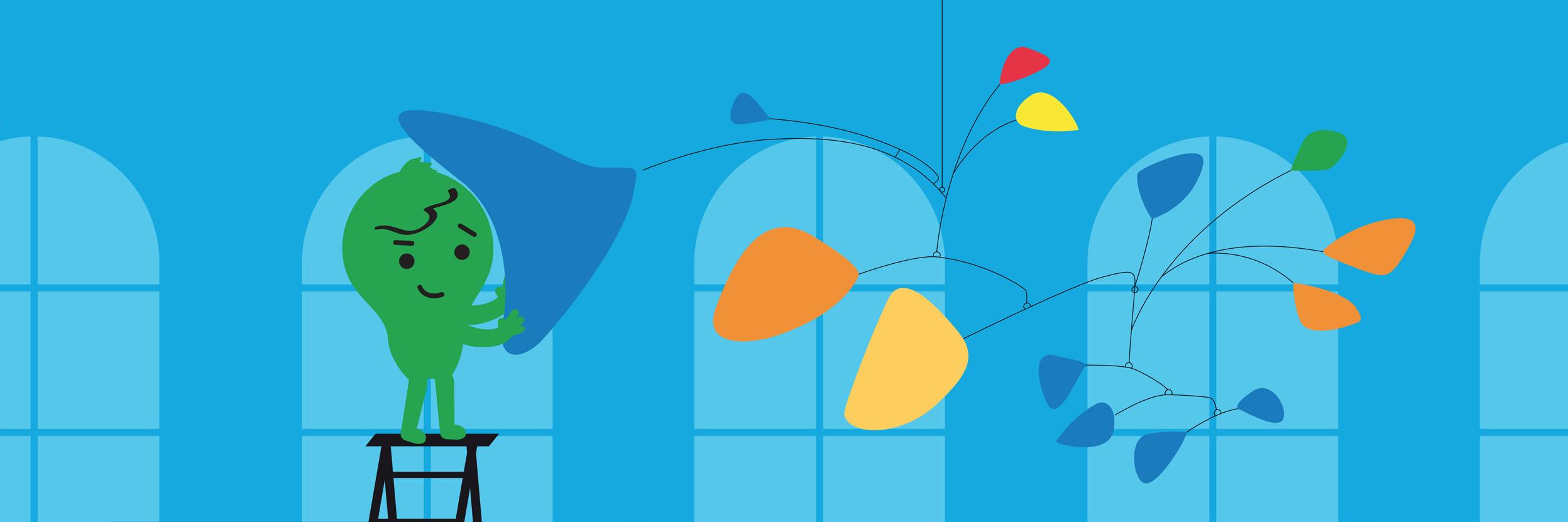 illustration flat design slider web