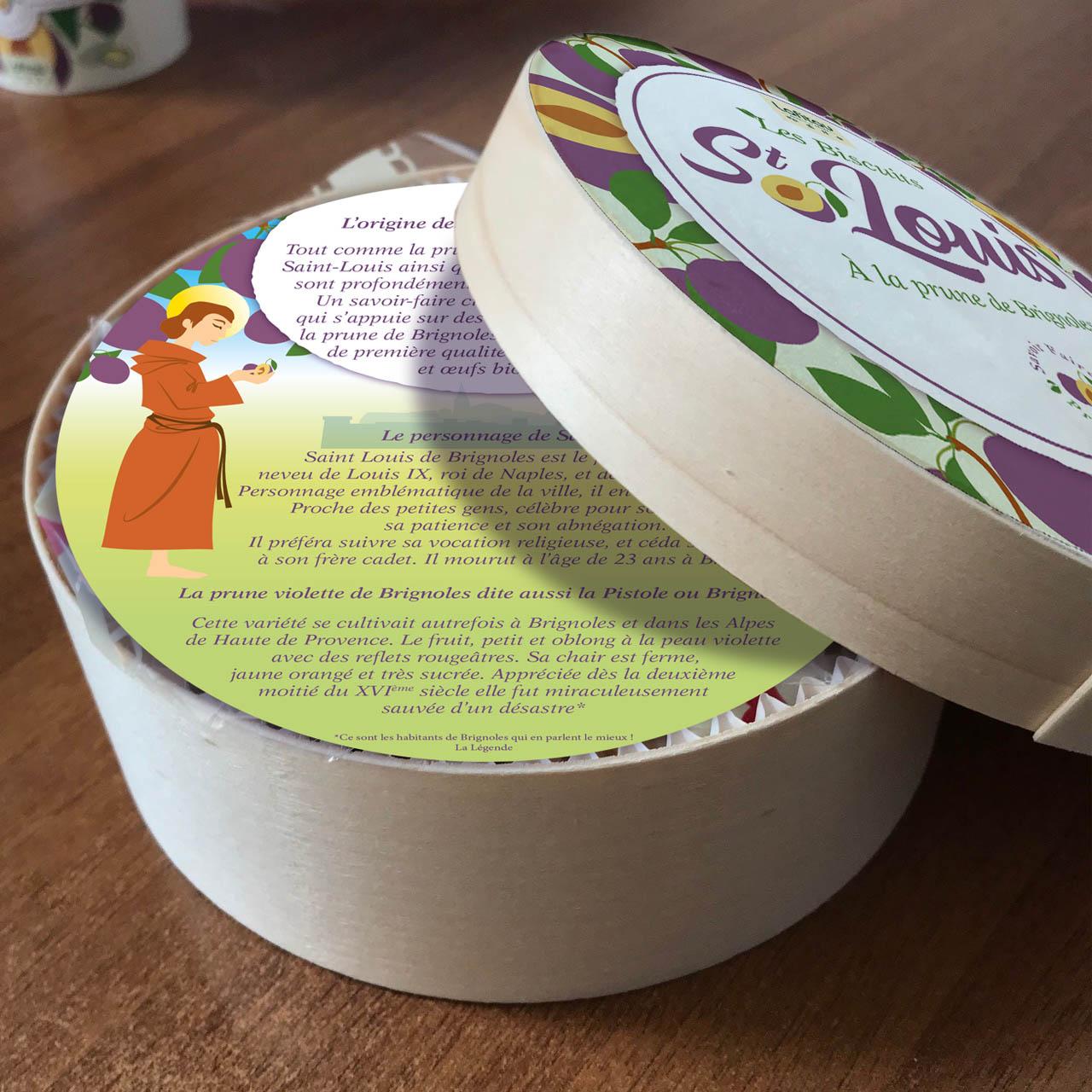 graphisme packaging étiquette boîte biscuits