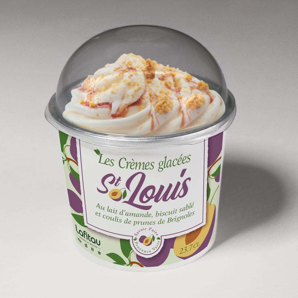 lafitau graphisme packaging étiquette crème glacée