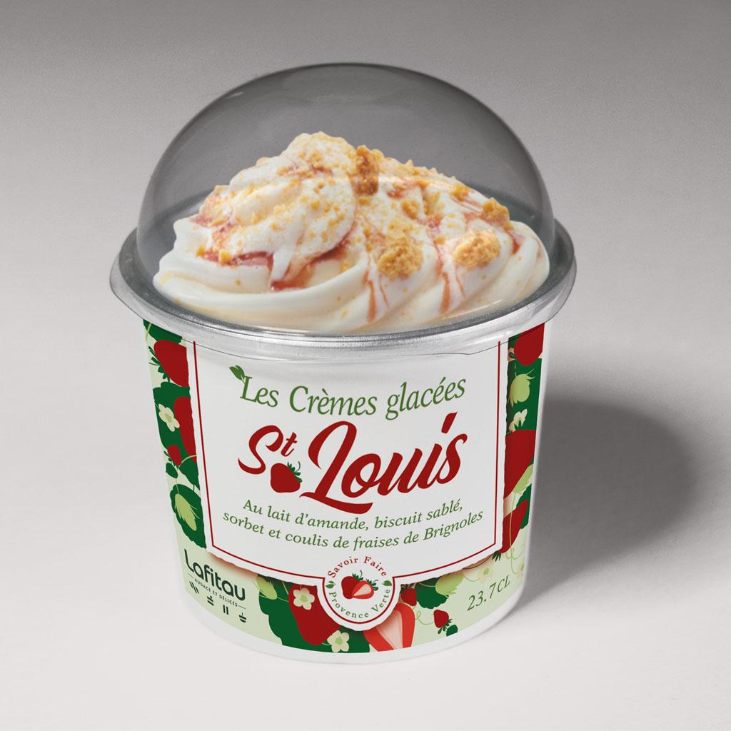 graphisme packaging étiquette crème glacée