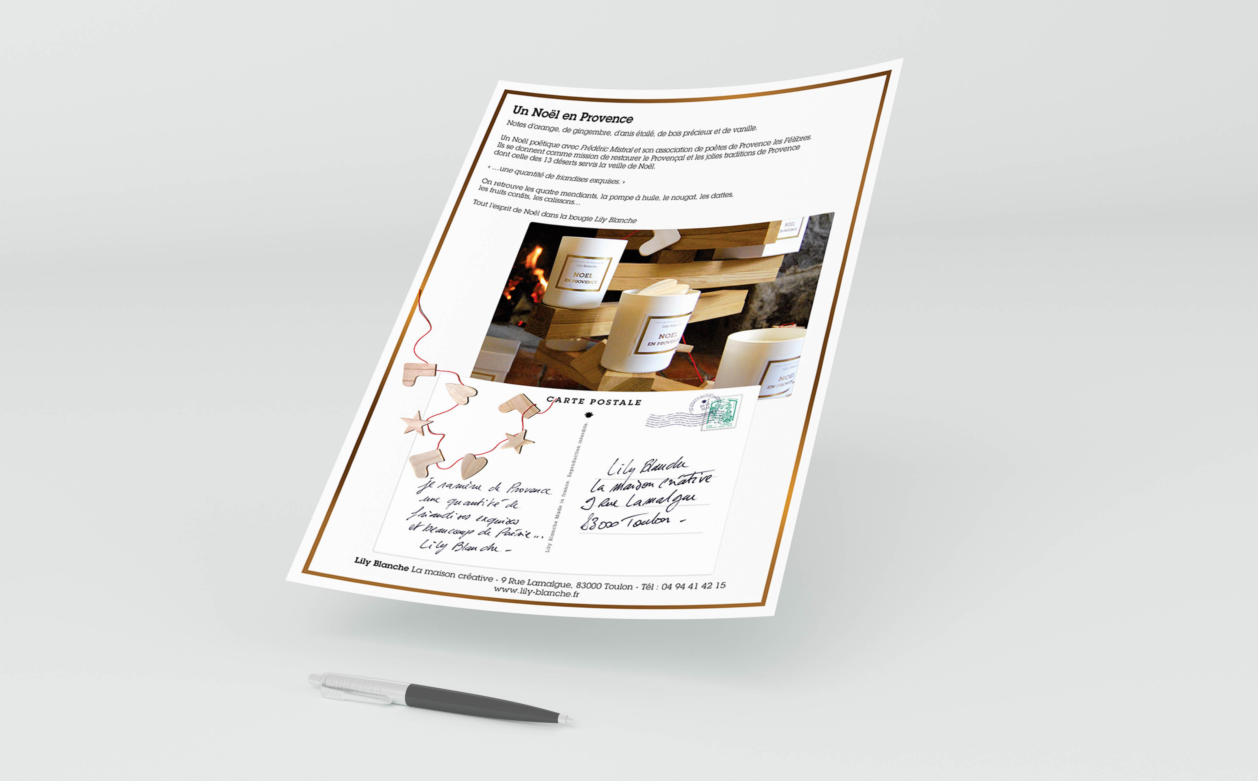 maquette mise en page news letter lily blanche