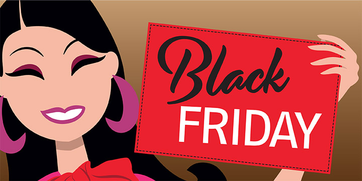 illustration vectoriel poster carte postale postcard black friday lad studio