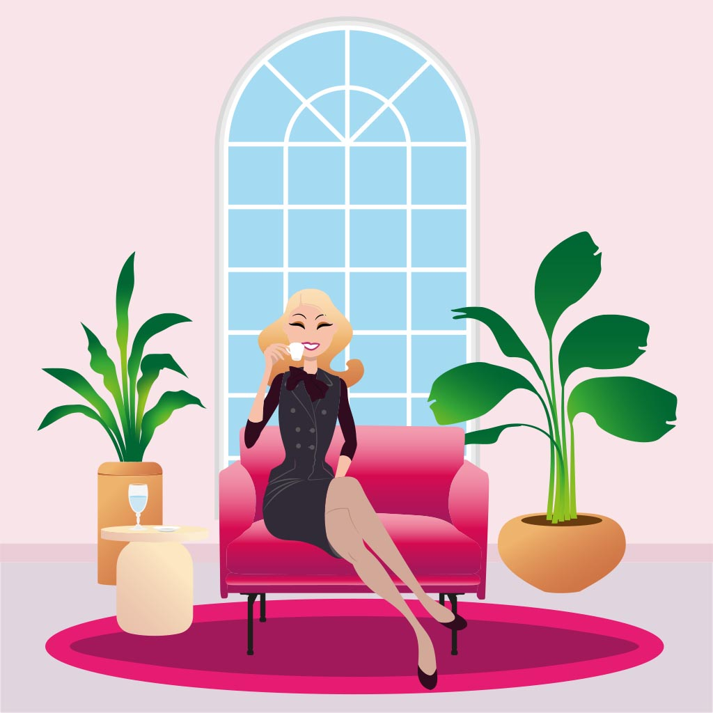 illustration vectoriel poster carte postale postcard interior design lad studio