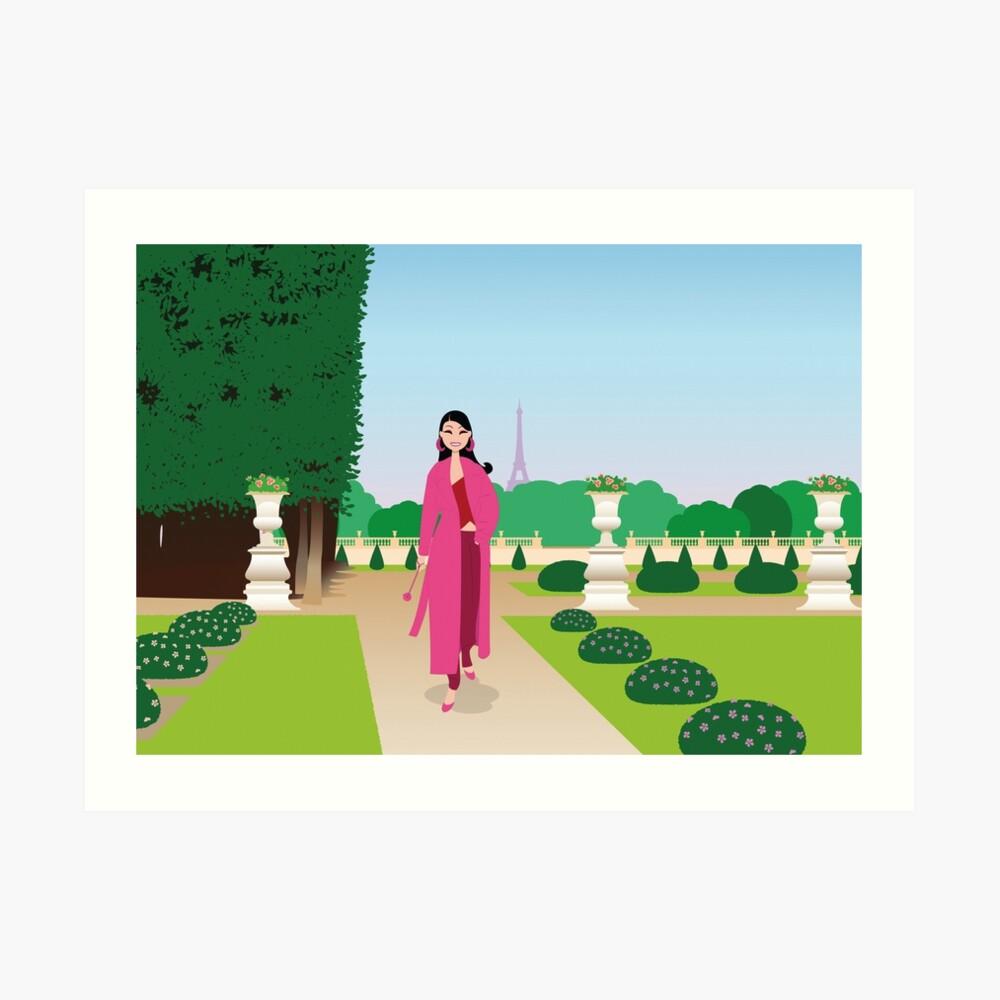 Paris Jardin du Luxembourg impression artistique ladstudio redbubble